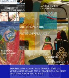 Peintures Nadia Dans Une Exposition collective au mégamal flyers-copie1-265x300